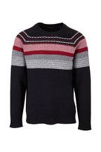 A T M - Black & Red Fair Aisle Wool Sweater