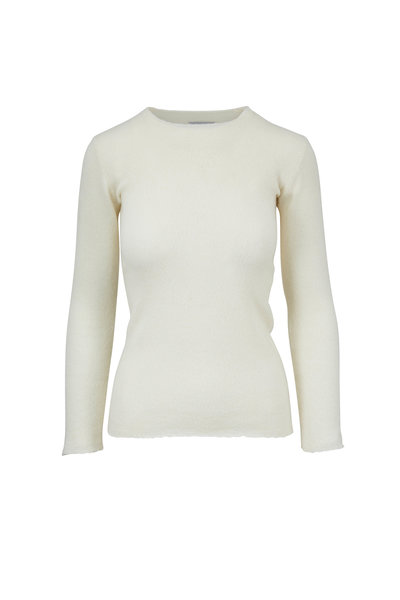 Lainey Keogh - Soft White Cashmere Crewneck Sweater