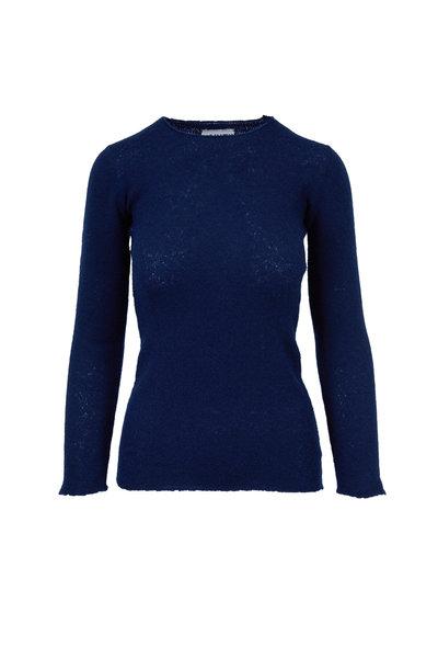 Lainey Keogh - Navy Cashmere Crewneck Sweater