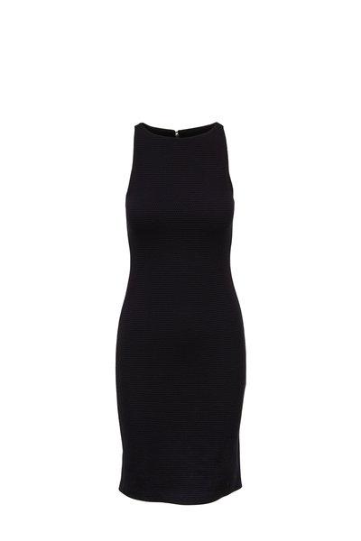 Emporio Armani - Black Honeycomb Knit Dress