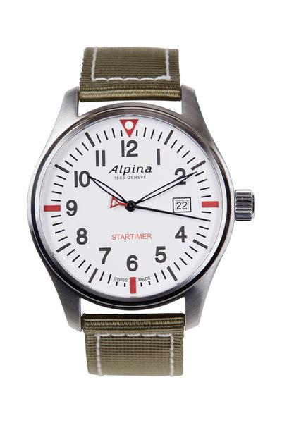 Alpina - Startimer Olive Pilot Quartz, 42MM