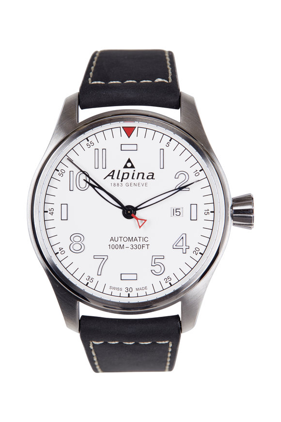 Alpina Startimer Pilot Automatic White Face, 44MM