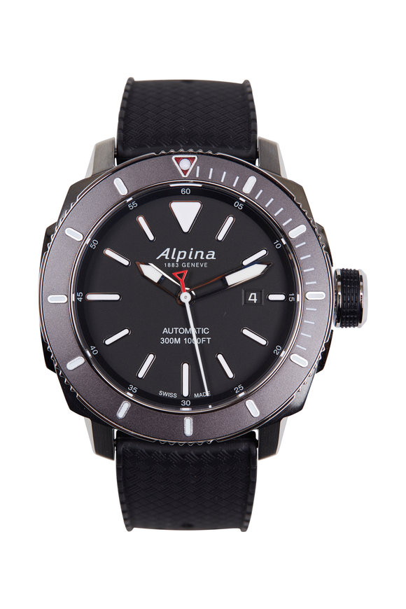 Alpina Seastrong Diver 300 Black, 44MM