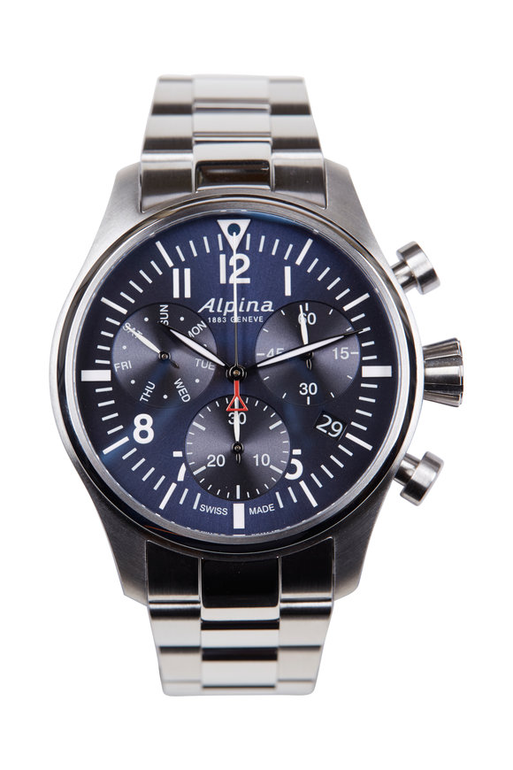 Alpina Startimer Blue Pilot Chronograph Quartz, 42MM
