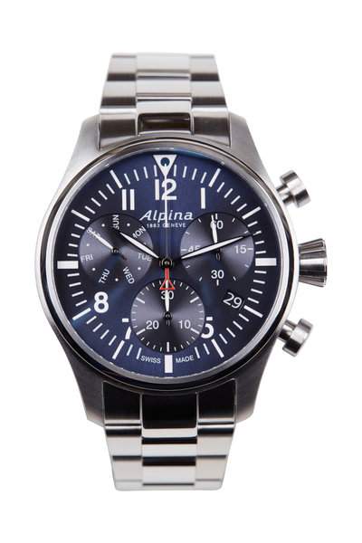 Alpina - Startimer Blue Pilot Chronograph Quartz, 42MM
