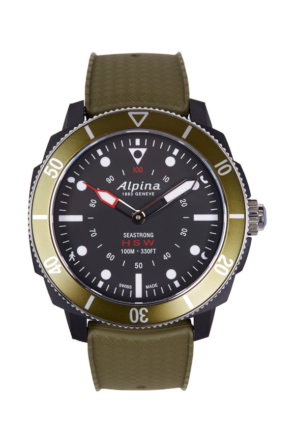Alpina Seastrong Green Horological Smartwatch, 44MM