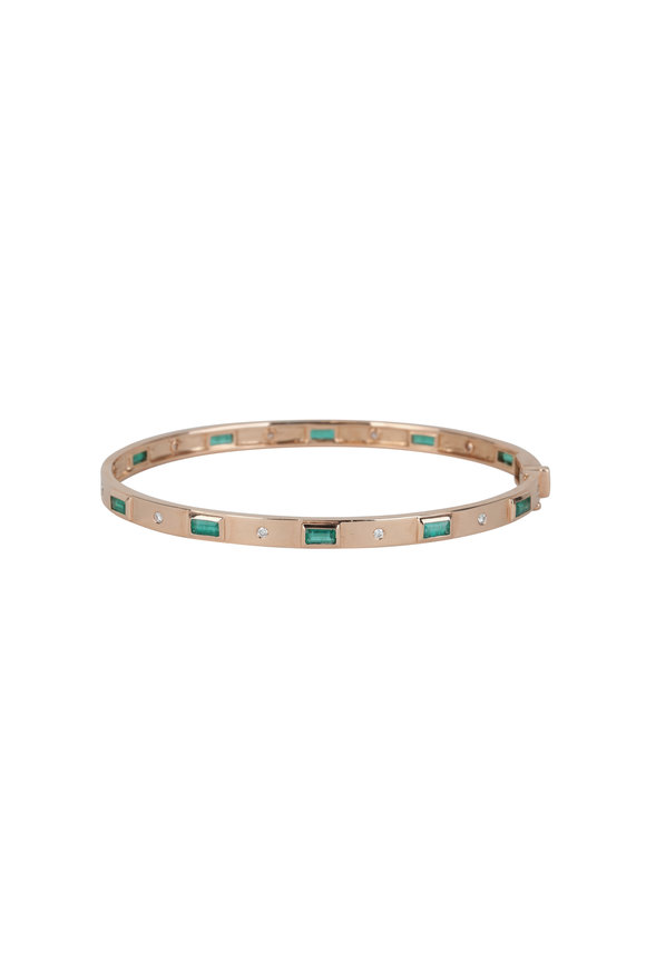 Kai Linz 14K Rose Gold Baguette Emerald Bracelet