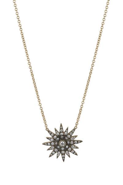 Sylva & Cie - 18K Yellow Gold Starburst Pendant Necklace