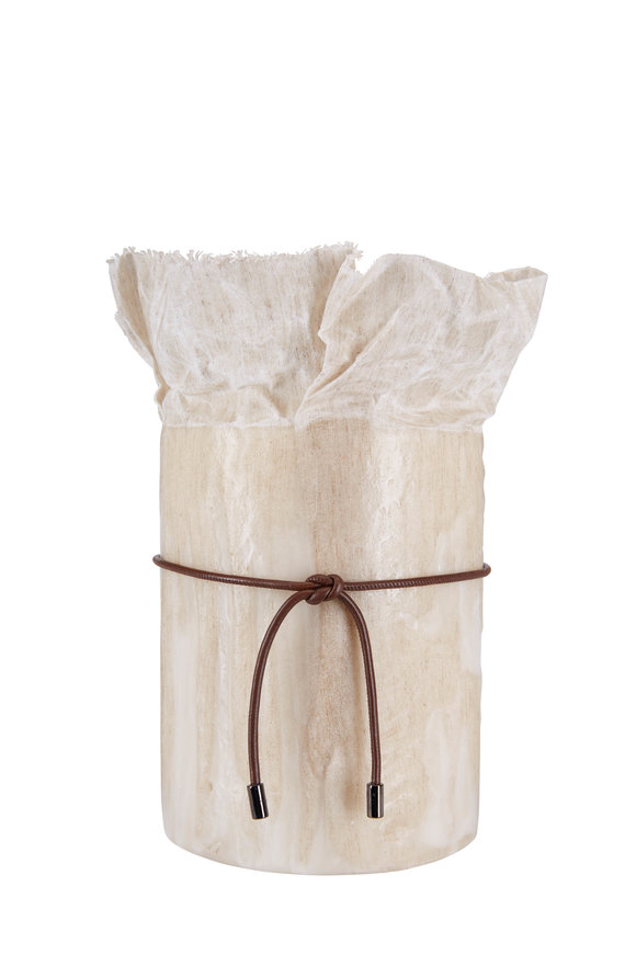 Brunello Cucinelli Sand Waxed Canvas Large Candle