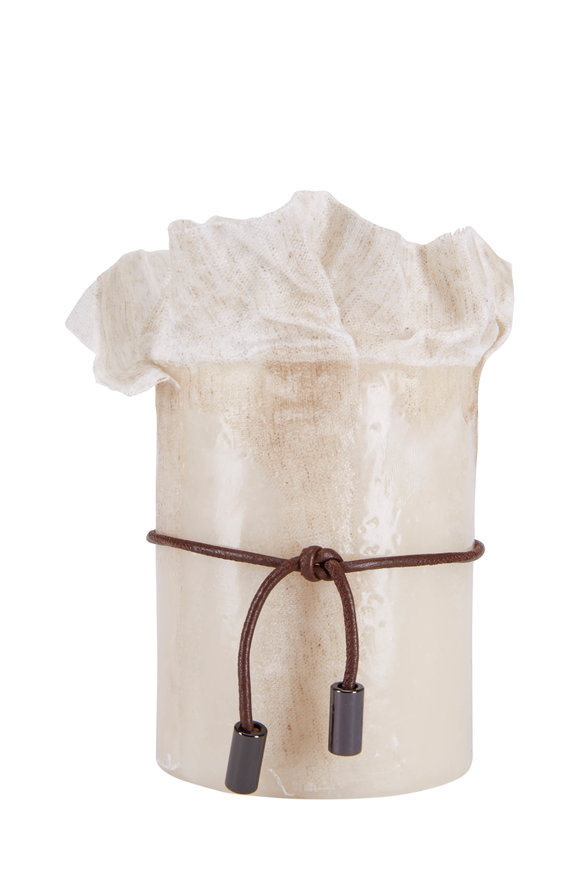 Brunello Cucinelli Sand Waxed Canvas Small Candle