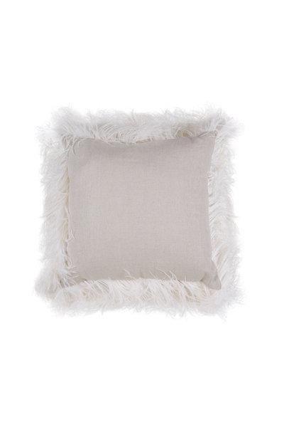 Brunello Cucinelli - Oat Linen & Ostrich Feather Monilli Detail Pillow