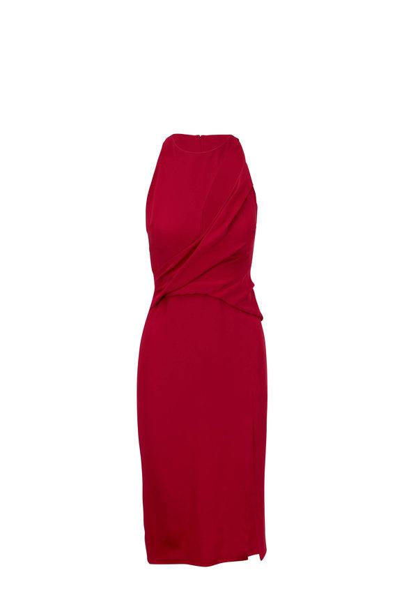 Cushnie et Ochs Camellia Satin Twist Sleeveless Pencil Dress