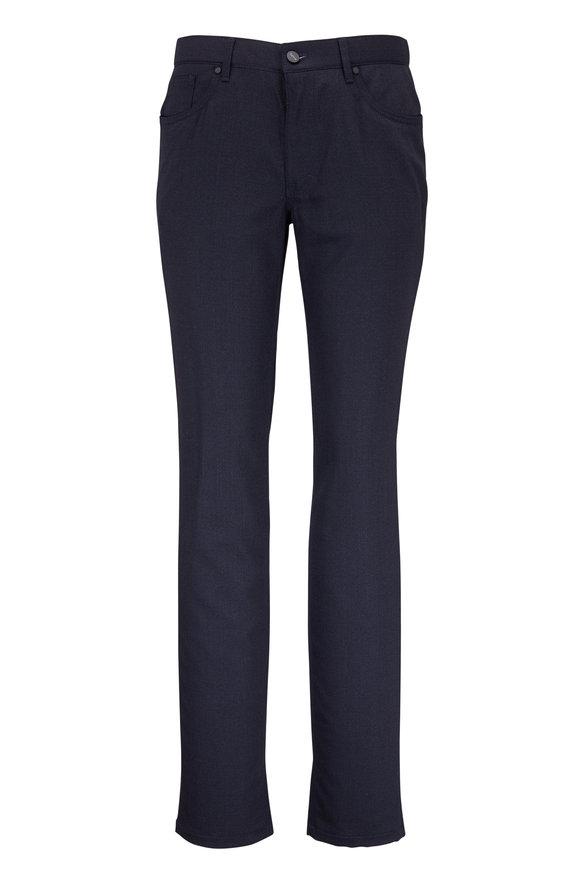 Hiltl Sartioal Navy Blue Micro Pattern Five-Pocket Pant
