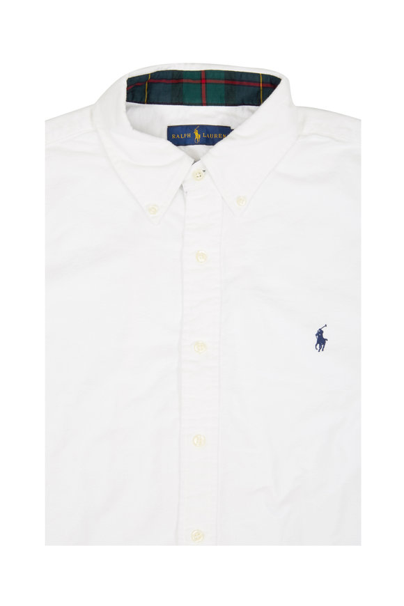 Polo Ralph Lauren Lauren White Classic Fit Brushed Oxford
