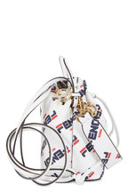 Fendi - Mon Tresor White Logo Mania Mini Bucket Bag