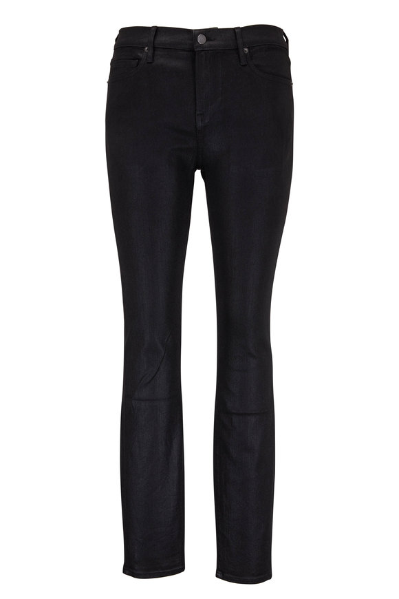 Frame L'Homme Black Coated Skinny Jean