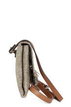 Brunello Cucinelli - Platinum Metallic Woven Fringed Small Crossbody