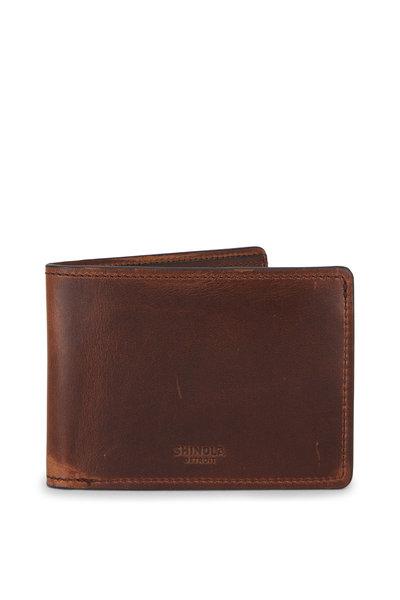 Shinola - Brown Slim Bi-Fold Wallet