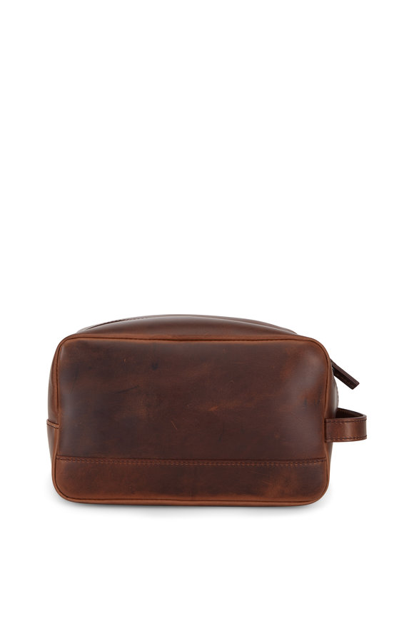 Shinola Luxe Medium Brown Leather Travel Kit