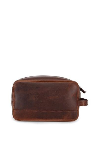 Shinola - Luxe Medium Brown Leather Travel Kit