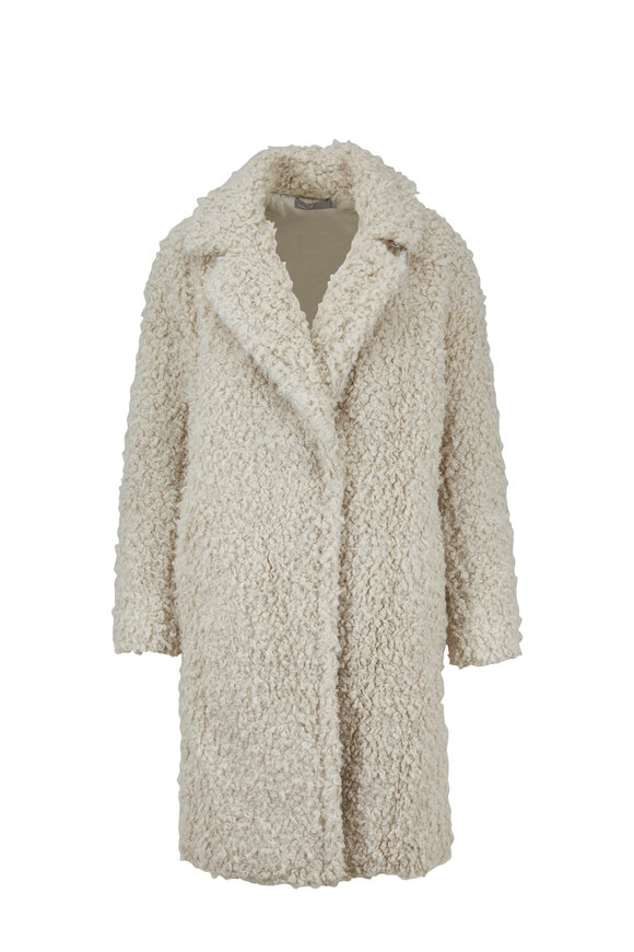 Vince Porcelain Shaggy Coat