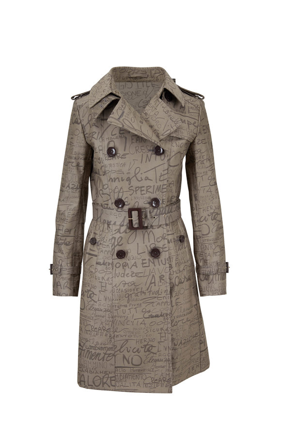 Herno Limited Edition Dark Taupe Anniversary Trench Coat