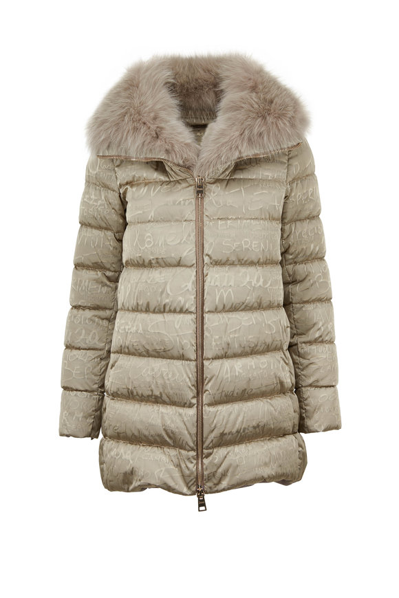 Herno Limited Edition Dark Taupe Anniversary Puffer Coat