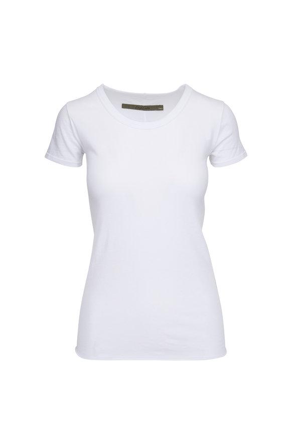 Enza Costa White Short Sleeve Crewneck T-Shirt
