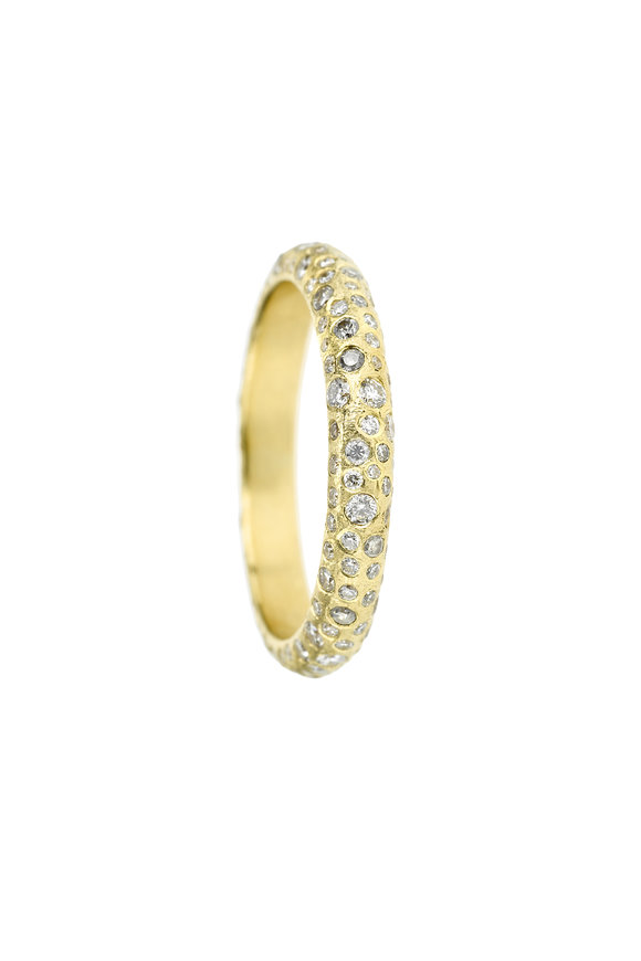 Todd Reed 18K Yellow Gold Pavé Band