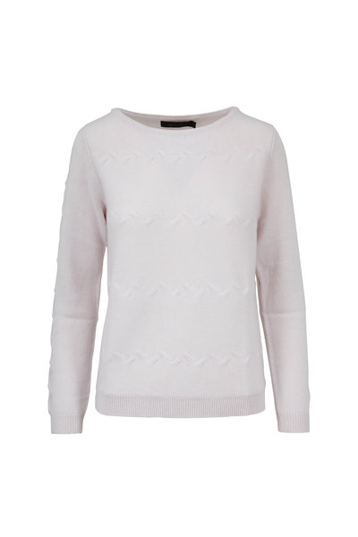 Raffi - Chalk White Cashmere Cable Knit Sweater