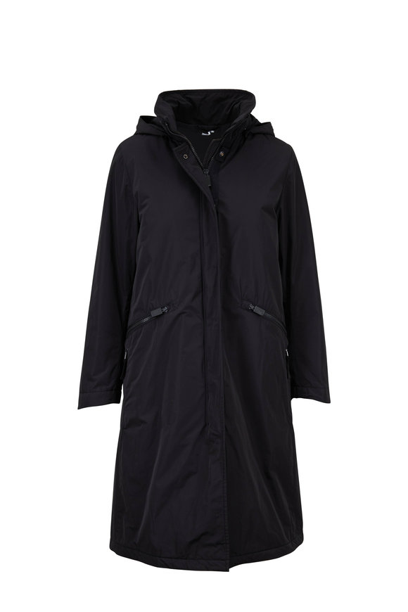 Aspesi Cernia Black Water Repellent Coat