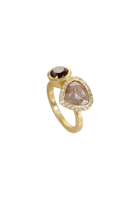 Todd Reed 18K Yellow Gold Brown Diamond Ring