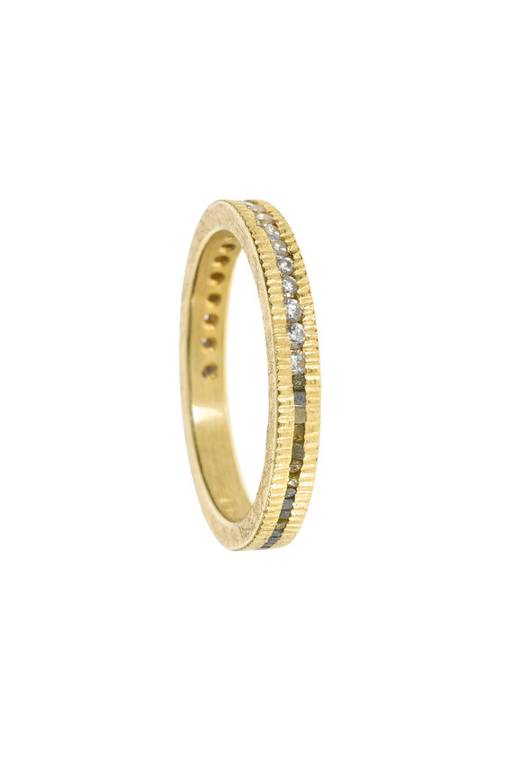 Todd Reed 18K Yellow Gold Diamond Stack Ring