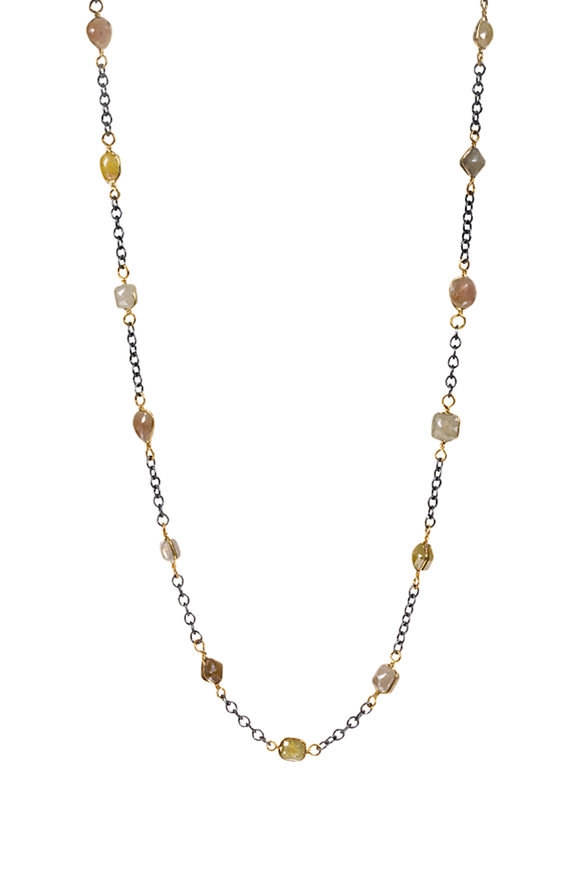 Todd Reed 18K Yellow Gold Station Diamond Necklace