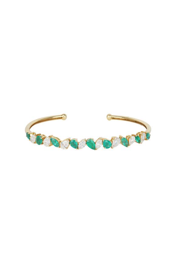 Loren Jewels 18K Yellow Gold Emerald & Diamond Bracelet