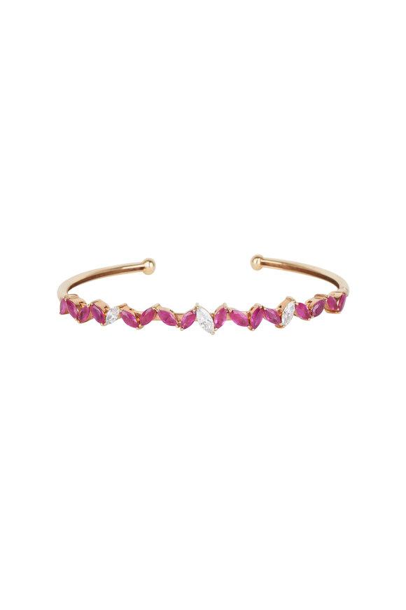 Loren Jewels 18K Rose Gold Ruby & Diamond Bracelet