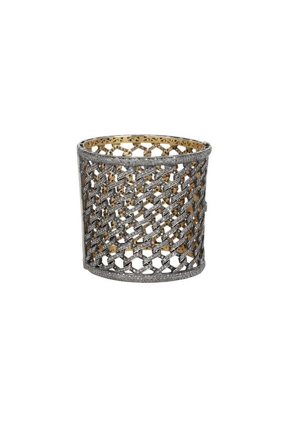 Loren Jewels 14K Gold & Silver Diamond Open Hive Bracelet