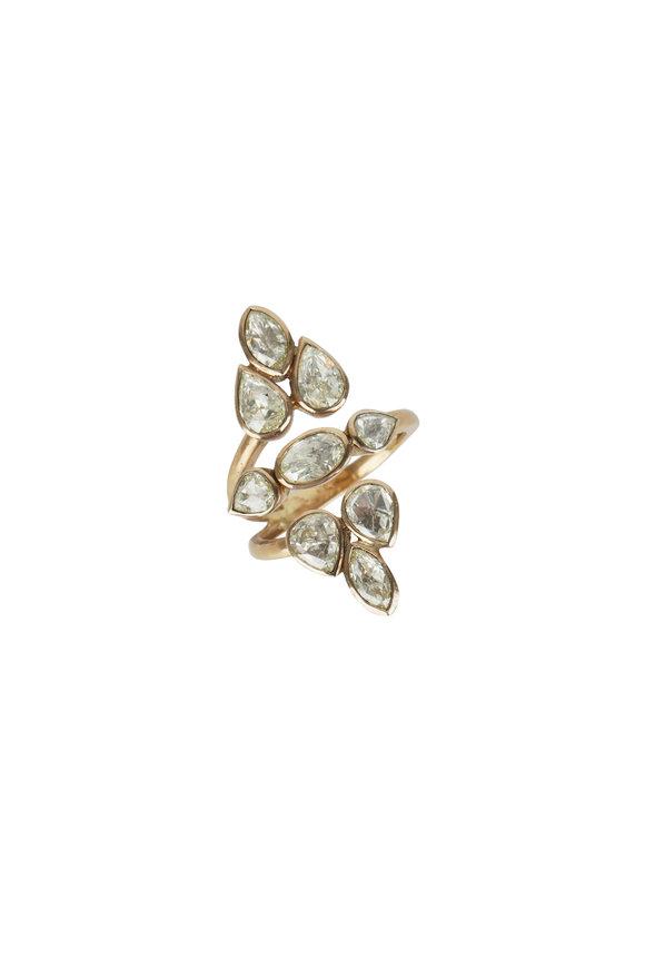 Loren Jewels 18K Yellow Gold Rose Cut Diamond Ring
