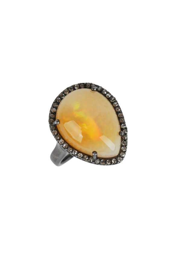 Loren Jewels Sterling Silver Opal Cocktail Ring