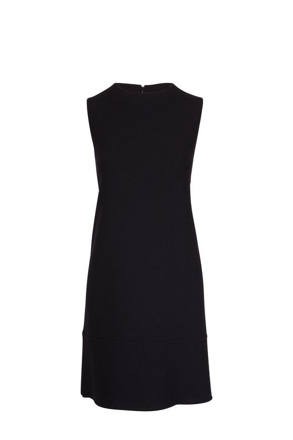 Olivine Gabbro Grace Black Double-Faced Wool Dress