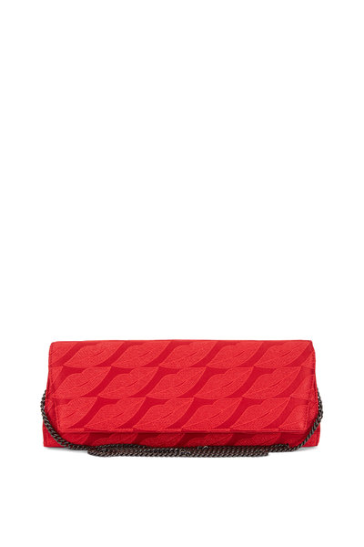 Akris - Anouk Red Lips Embroidered Chain Clutch