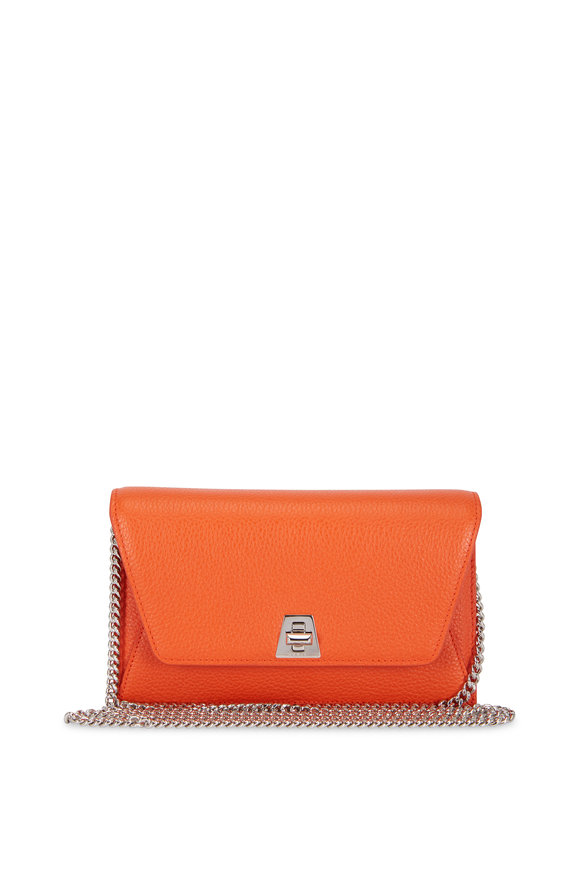 Akris Anouk Orange Leather Small Chain Crossbody