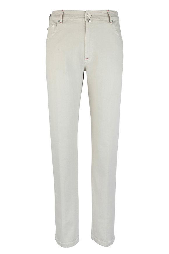 Kiton Beige Stretch Cotton Five Pocket Pant