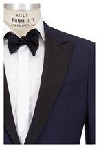 Samuelsohn - Bennet Navy Blue Wool Peak Lapel Tuxedo