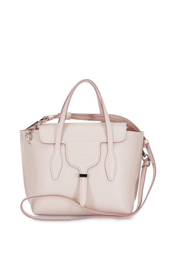 Tod's New Joy Pink Pebbled Leather Mini Hobo Bag