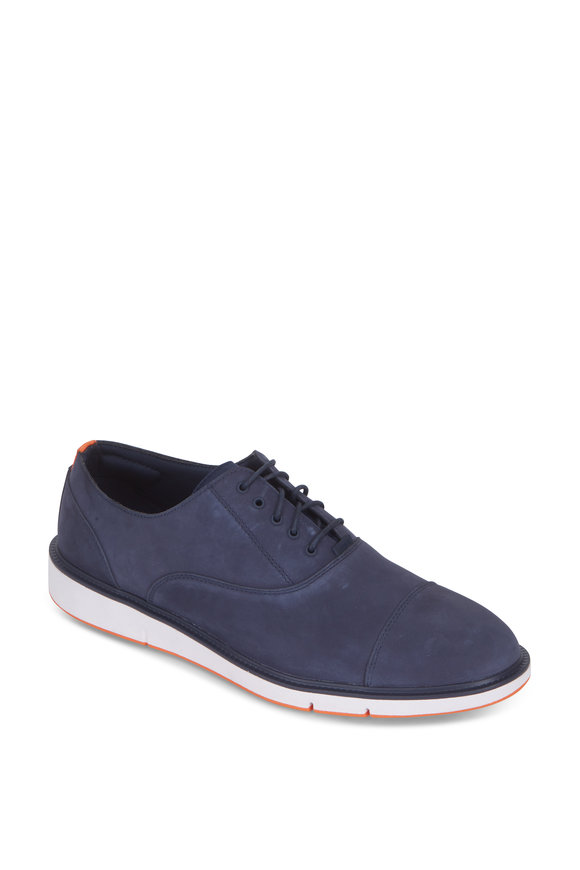 Swims Motion Navy Blue Suede Cap-Toe Oxford