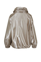 Akris - Veronique Metallic Taffeta Bomber Jacket