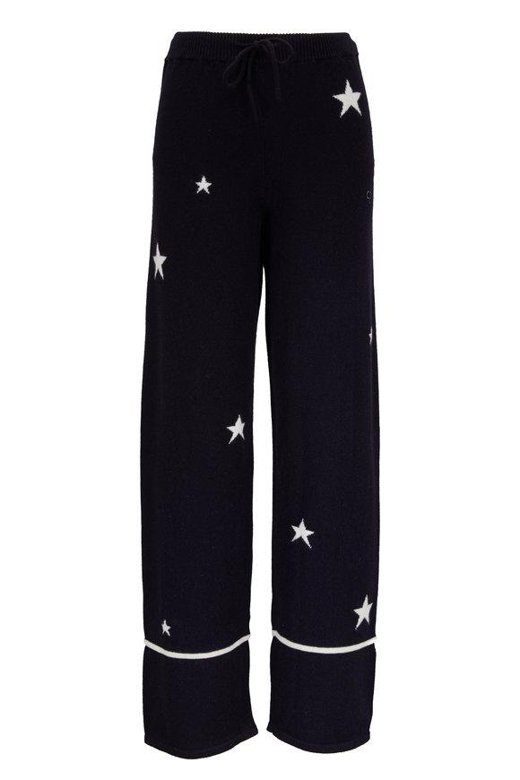 Chinti & Parker Navy Blue Cashmere Star Pajama Pant