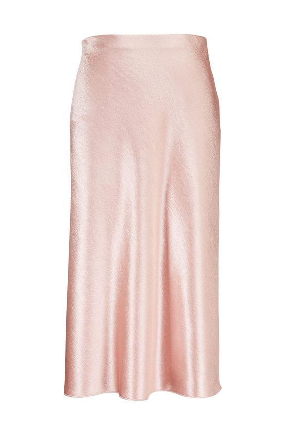 Vince Blush Satin Slip Skirt