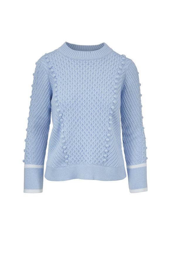 Kinross Serenity Cotton Pom Pom Sweater